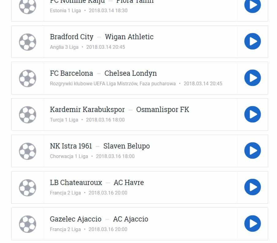 Liga Mistrzów 2018 Meczyki