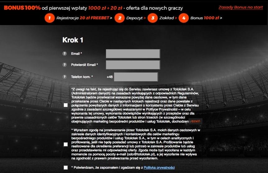 rejestracja totolotek online
