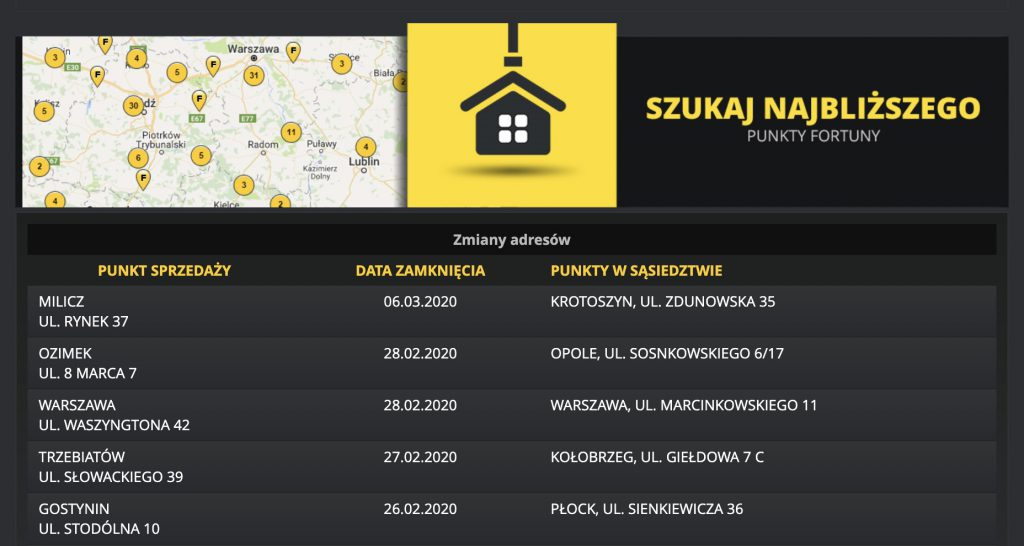 Fortuna Gdańsk. Punkty naziemne - informacje, bonusy, godziny otwarcia