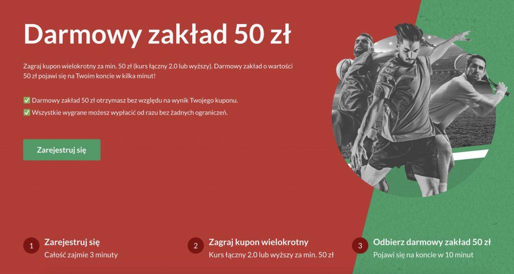 PZbuk darmowy zakład 50 zł