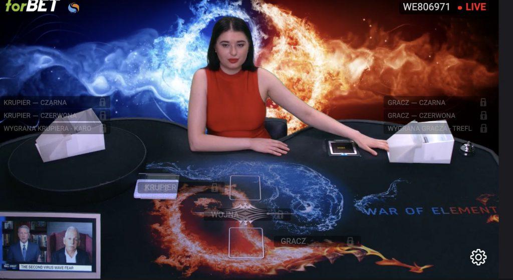 Forbet TVbet - legalne karty w internecie (Poker, Blackjack, Wojna)